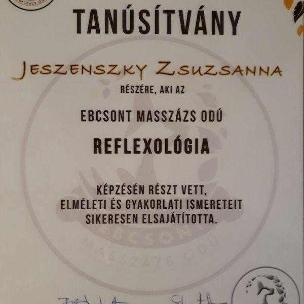 Reflexológia tanúsítvány